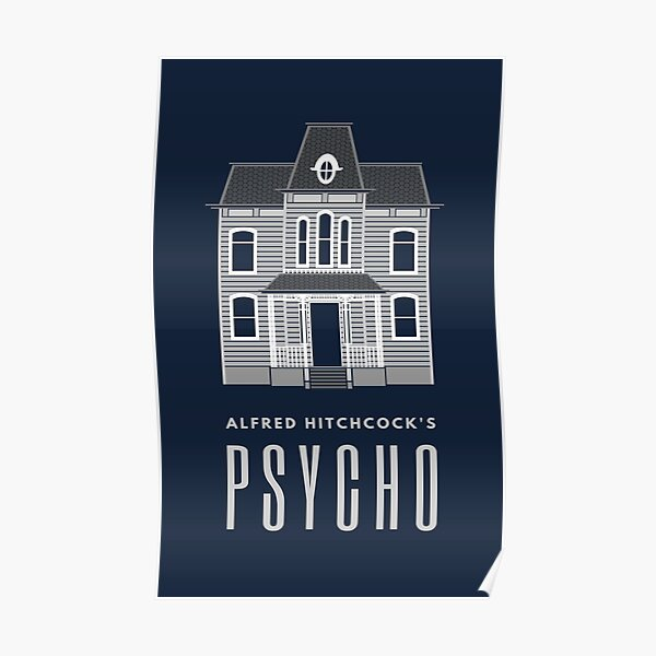 Alfred Hitchcock's PSYCHO (Grey) Poster