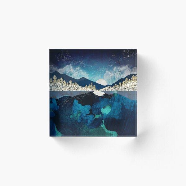 Midnight Water Acrylic Block