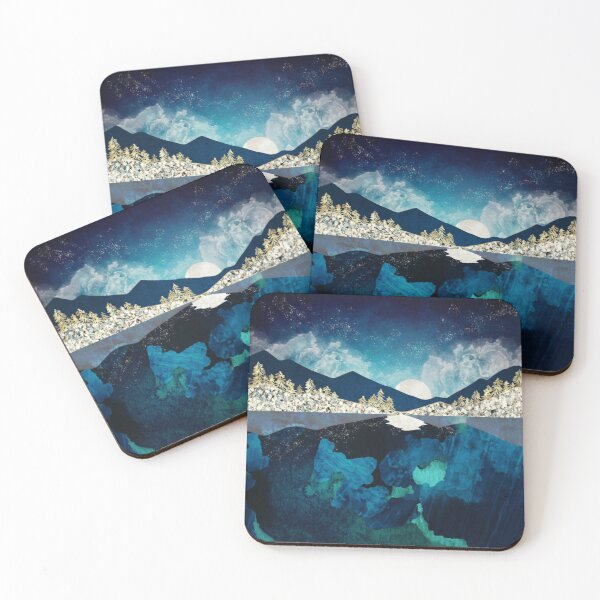 Midnight Water Coasters (Set of 4)