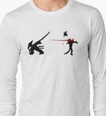 Samurai Versus Zombie - Splatter Long Sleeve T-Shirt