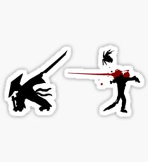 Samurai Versus Zombie - Splatter Sticker