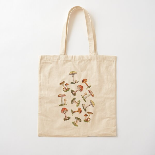 Mushrooms Cotton Tote Bag