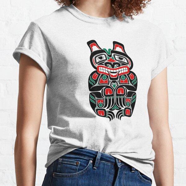 Red and Green Haida Spirit Bear Classic T-Shirt