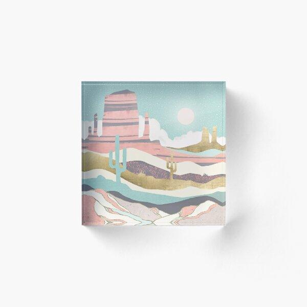 Desert Sun Acrylic Block