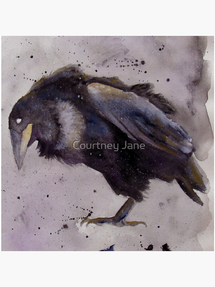Nevermore - Watercolor Raven  by CourtneyMcLain