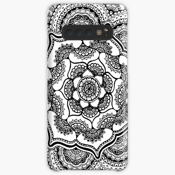 Spring Lotus || Abstract || Black and White Samsung Galaxy Snap Case