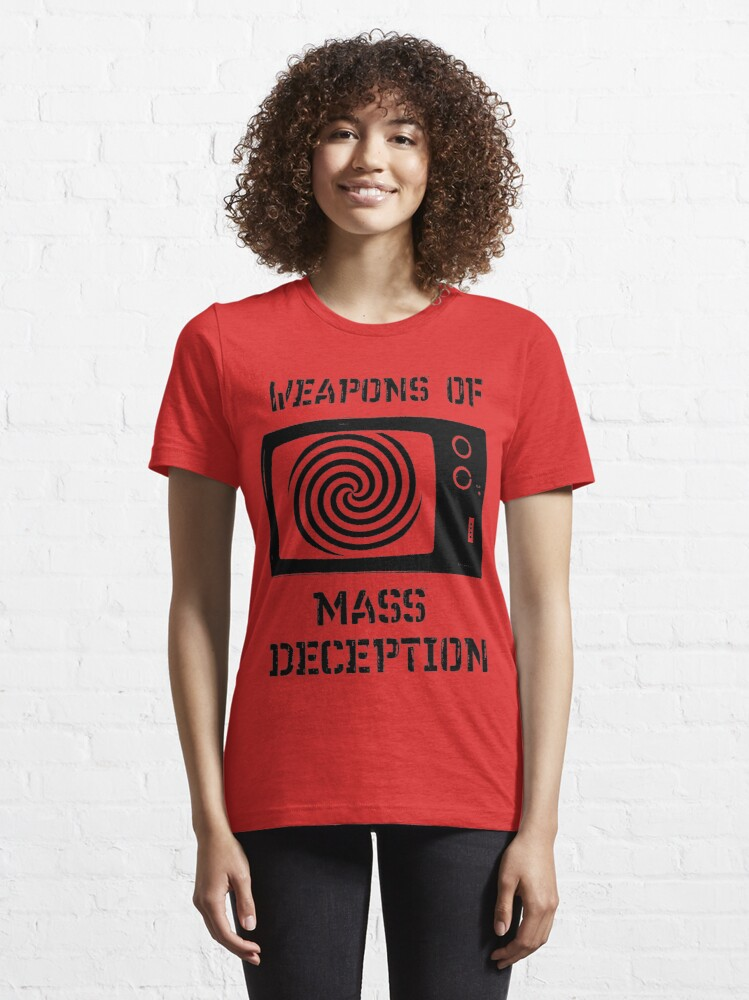 Alternate view of Weapons of Mass Deception Essential T-Shirt