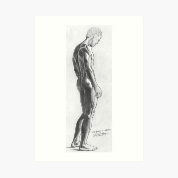Study for a male nude Art Print