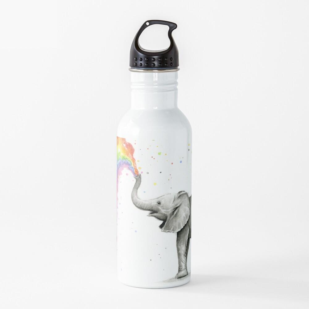 Baby Elephant Spraying Rainbow Water Bottle
