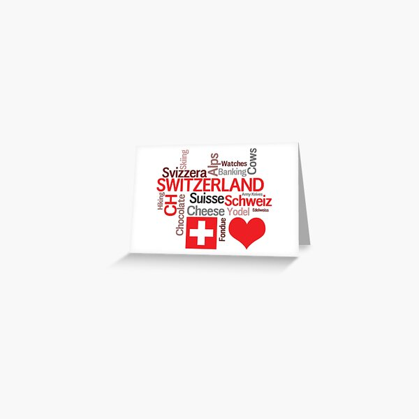 Things to Love About Switzerland Greeting Card