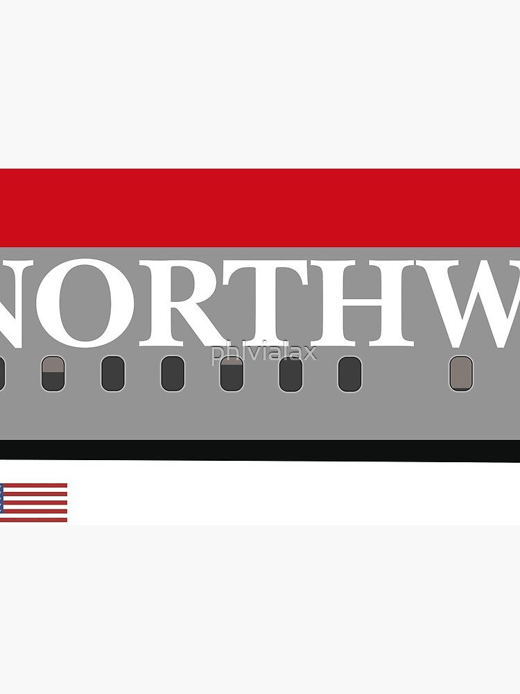 Plane Tees - Northwest Airlines by phlvialax