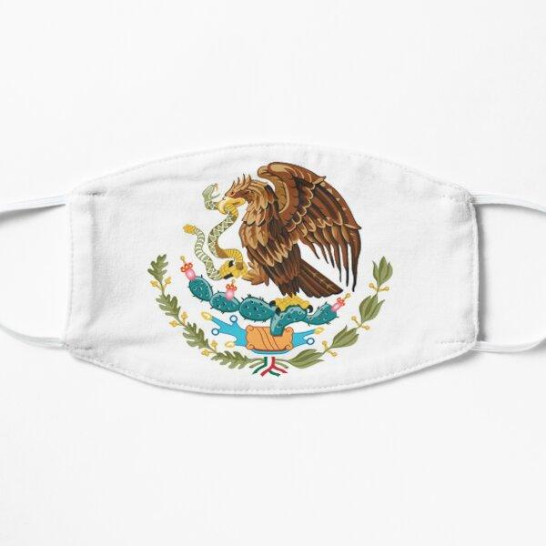 MEXIKO. MEXIKANER. EAGLE SYMBOL, mexikanische Flagge, Flagge von Mexiko, Bandera de México, schlicht und einfach. Flache Maske