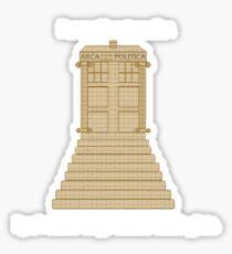 Time Travel (white) Sticker