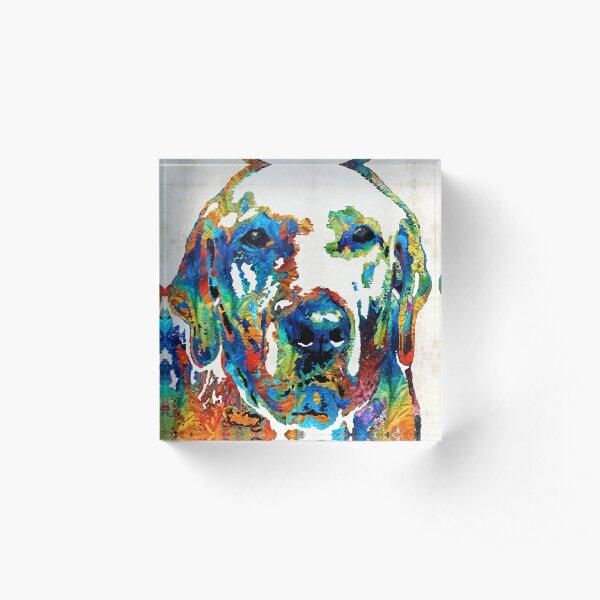 Labrador Retriever Art - Play With Me - By Sharon Cummings Acrylic Block