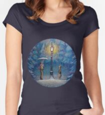 Narnia Magic Lantern Women's Fitted Scoop T-Shirt