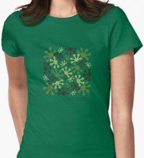 Green Mango Camo Women's Fitted T-Shirt