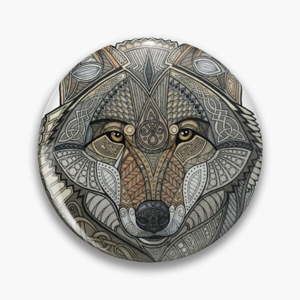 Norse Wolf Pin