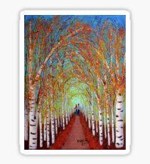 Autumn Birch trees Sticker