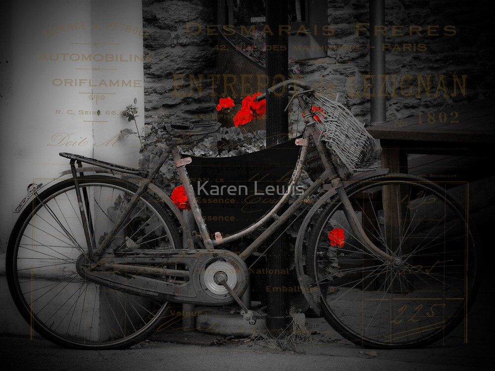 Rusty Vintage Bike by Karen Lewis