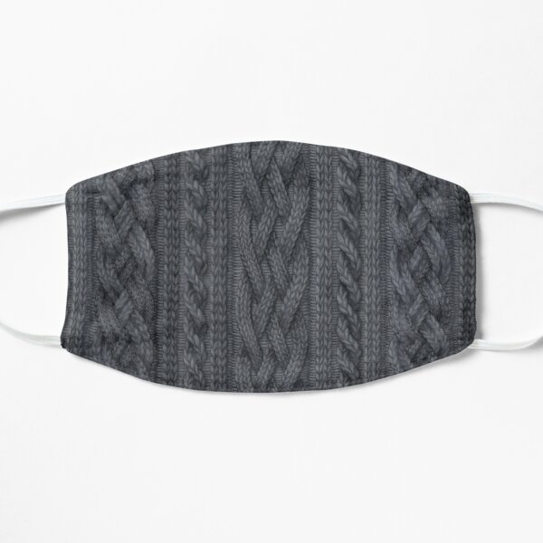 Charcoal Cable Knit Mask