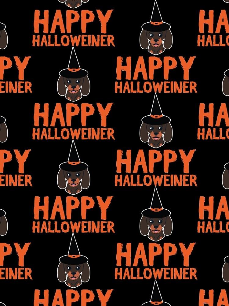 Happy Halloweiner Dachshund Pet Dog Halloween Gift by haselshirt