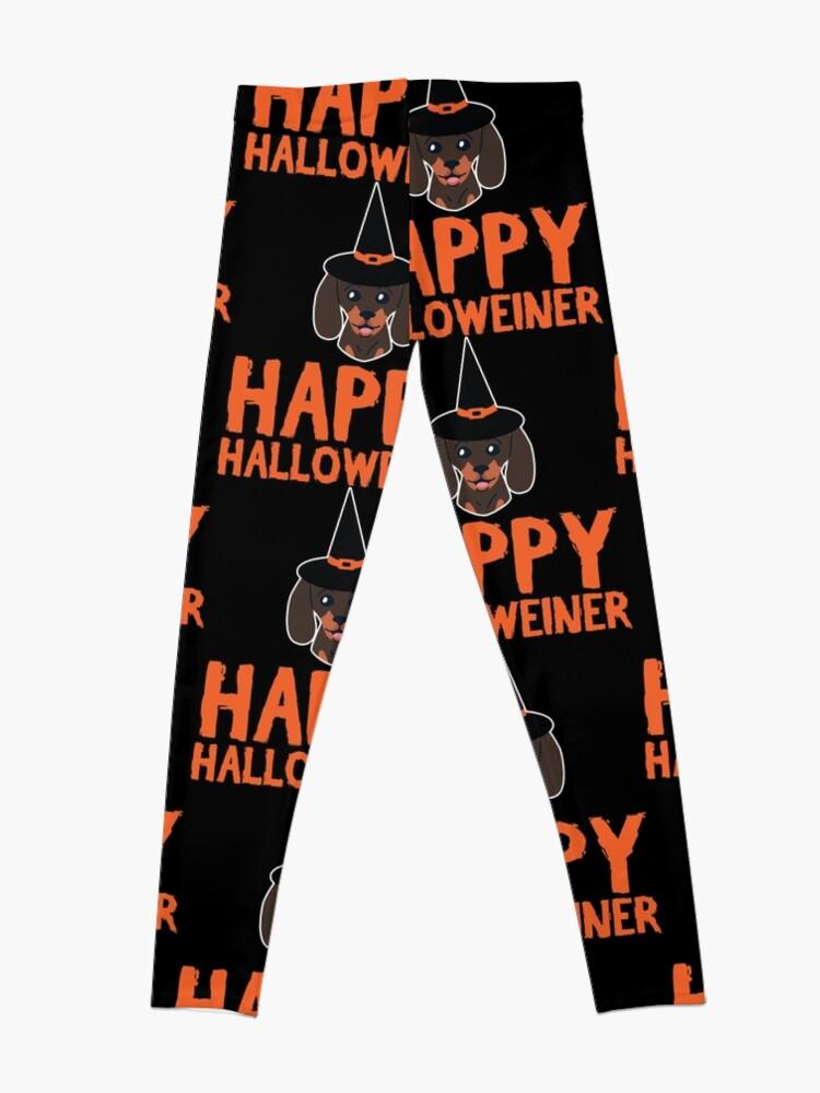 Alternate view of Happy Halloweiner Dachshund Pet Dog Halloween Gift Leggings