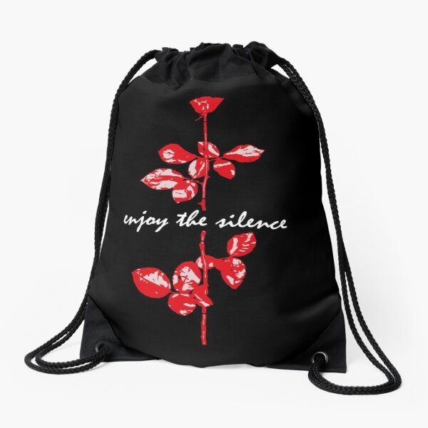Enjoy The Silence Drawstring Bag