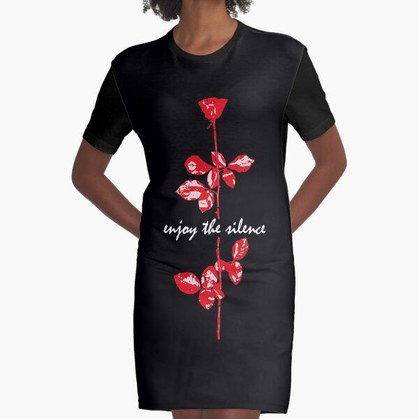 Enjoy The Silence Graphic T-Shirt Dress