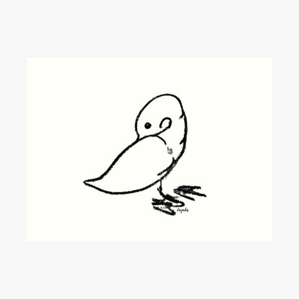 Duck scratching Art Print