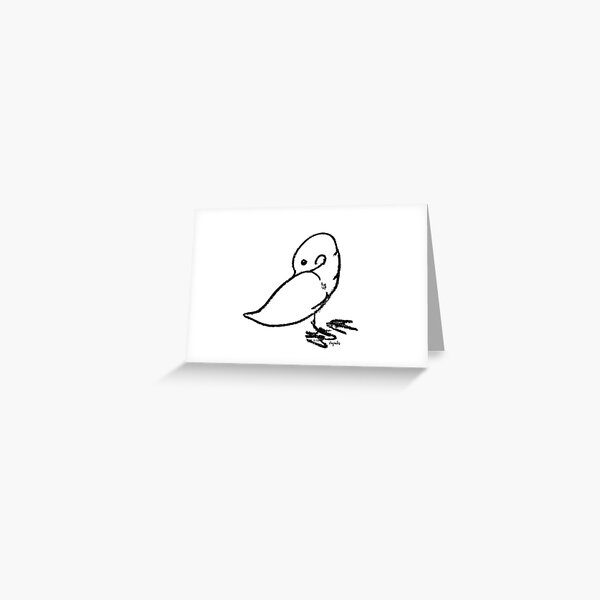 Duck scratching Greeting Card
