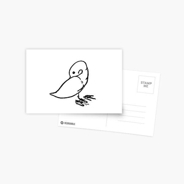 Duck scratching Postcard