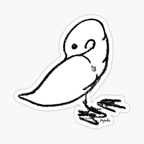Duck scratching Sticker