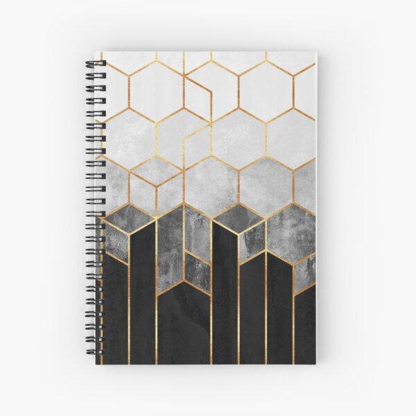 Hexágonos de carbón Cuaderno de espiral