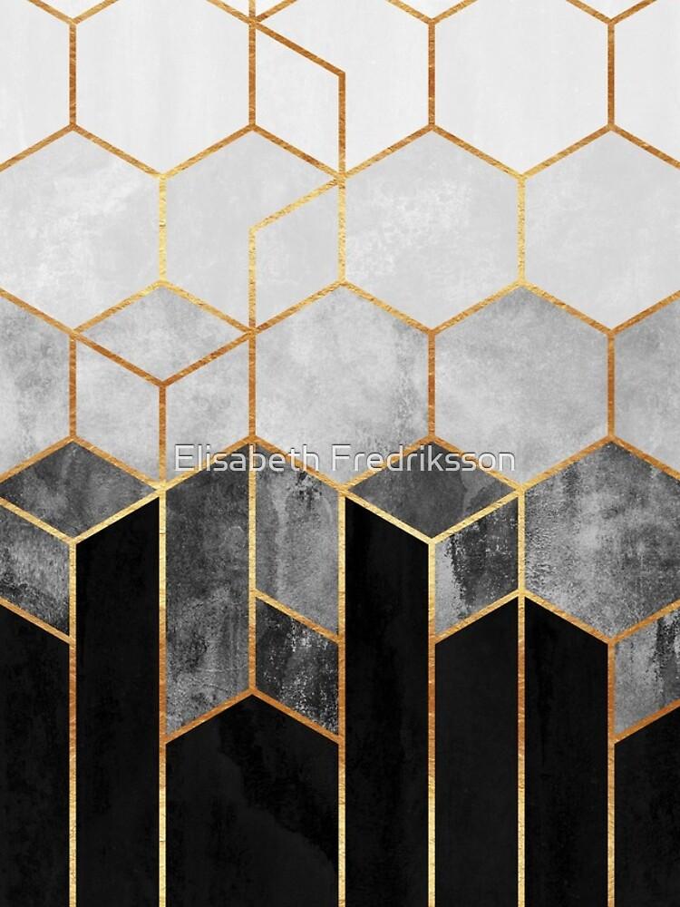 Charcoal Hexagons by foto-ella
