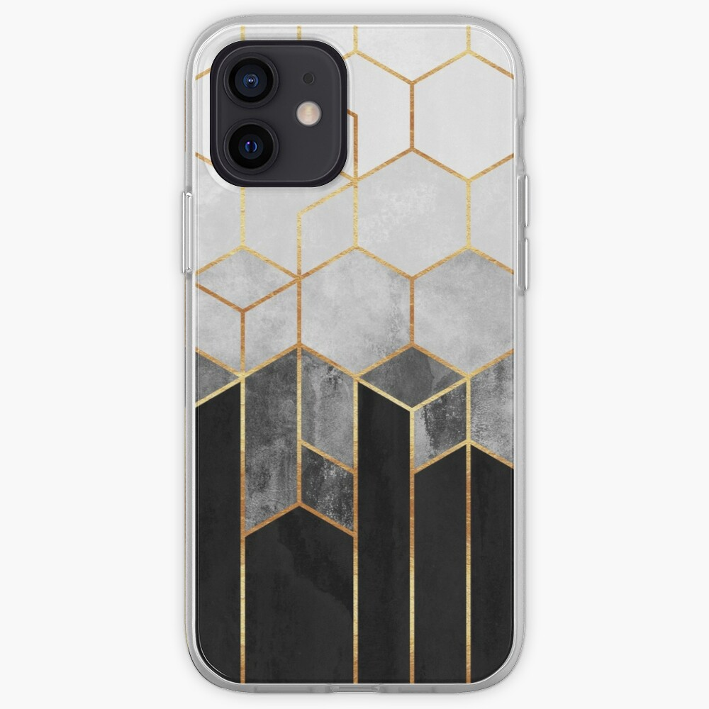 Charcoal Hexagons iPhone Case & Cover