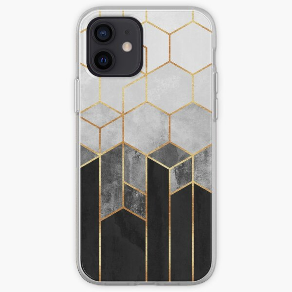 Charcoal Hexagons iPhone Soft Case