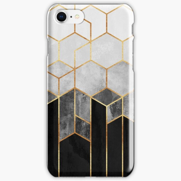 Charcoal Hexagons iPhone Snap Case