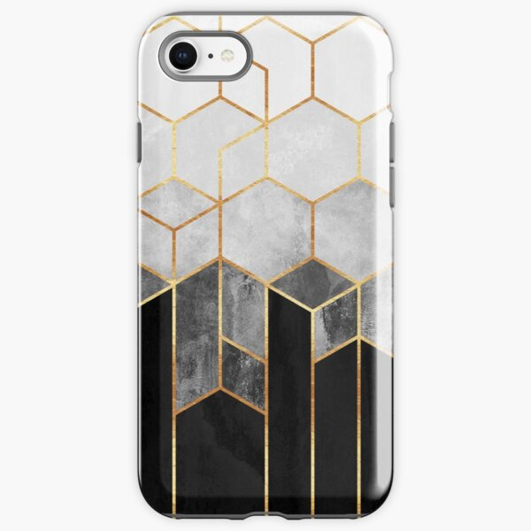 Charcoal Hexagons iPhone Tough Case
