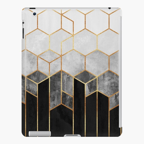 Charcoal Hexagons iPad Snap Case