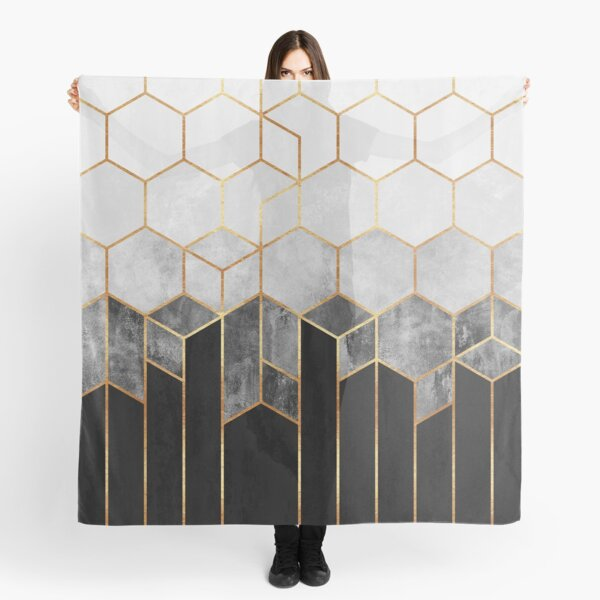 Charcoal Hexagons Scarf