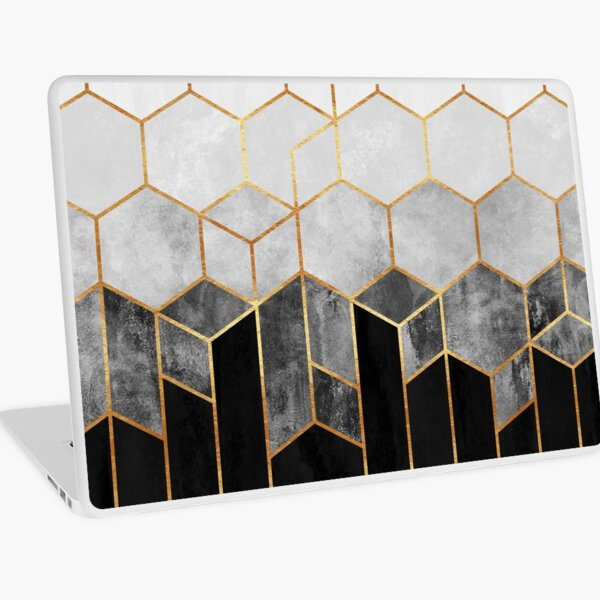 Charcoal Hexagons Laptop Skin
