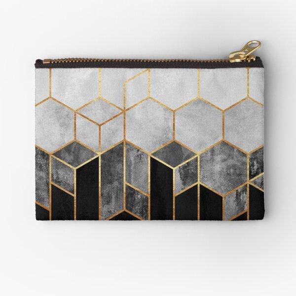 Charcoal Hexagons Zipper Pouch