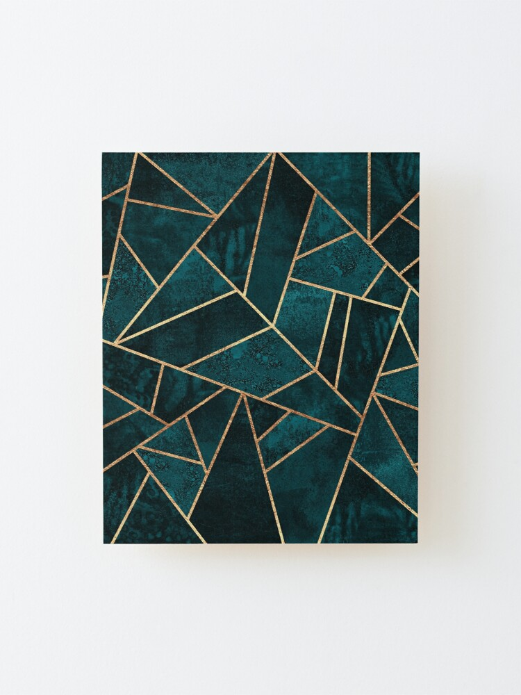 Alternate view of Deep Teal Stone Mounted Print