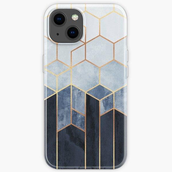 Soft Blue Hexagons iPhone Soft Case