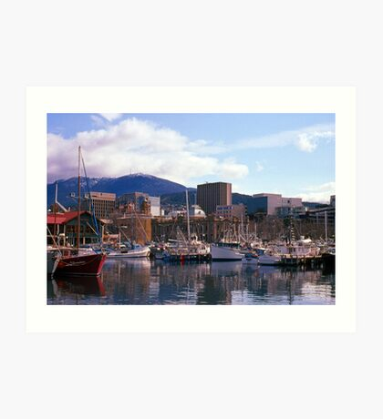 Victoria Dock, Hobart, Spring 2010—Kodachrome 64 Art Print