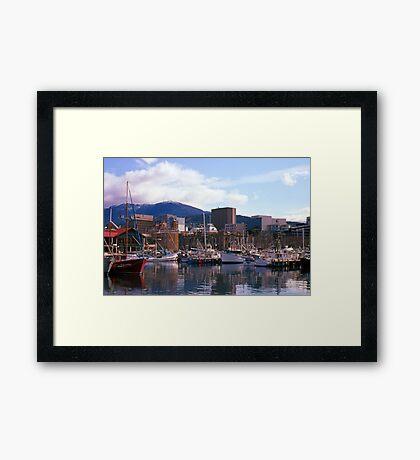 Victoria Dock, Hobart, Spring 2010—Kodachrome 64 Framed Print