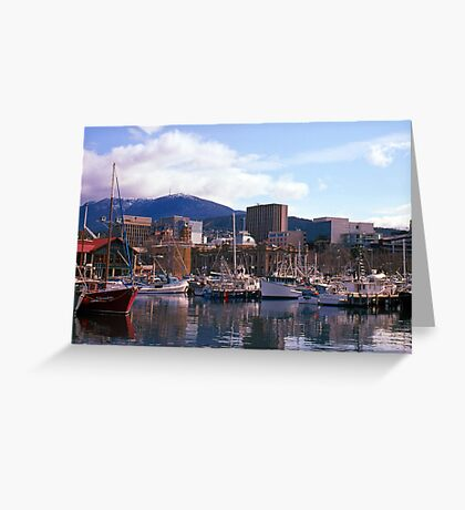 Victoria Dock, Hobart, Spring 2010—Kodachrome 64 Greeting Card