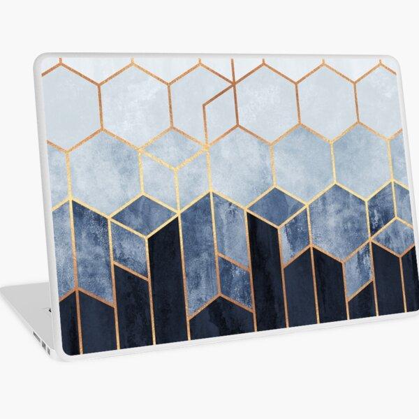 Soft Blue Hexagons Laptop Skin