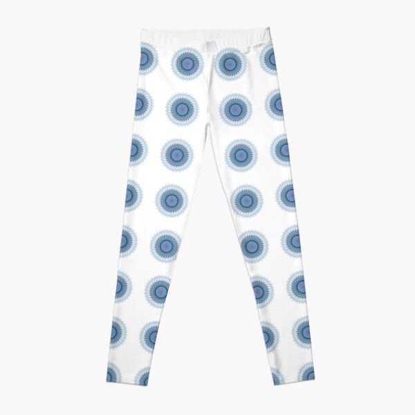 Blue Gray Lace Doiley Leggings