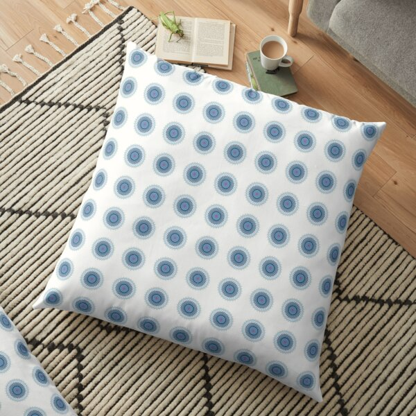 Blue Gray Lace Doiley Floor Pillow